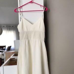 ZARA LINEN WHITE DRESS